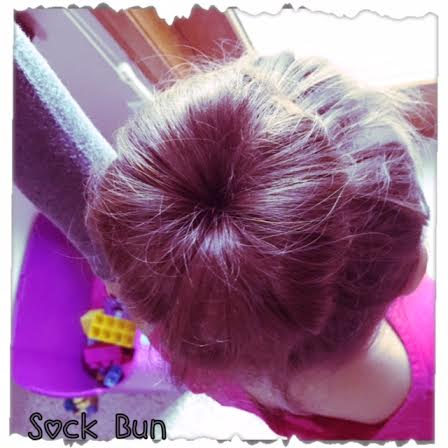 how to make a donut bun with a sock