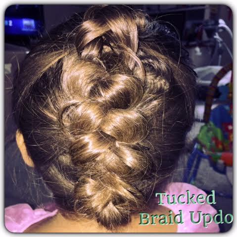 tucked braid updo